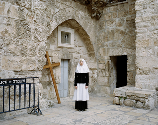 Orthodox nun, Jerusalem, 2013