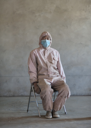 Worker of medical factory, Tibet, 2012